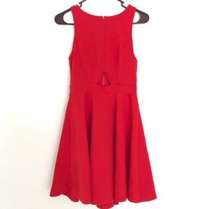 Francesca's Skater Dress with cut out